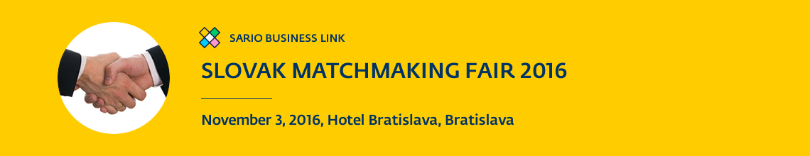 Slovak Matchmaking Fair 2016